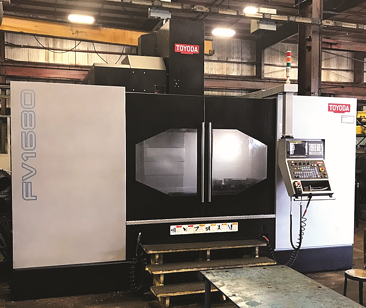 The Toyoda FV1680 at Lange Grinding and Machining.